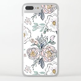 Indy Bloom Design Periwinkle Rose Clear iPhone Case