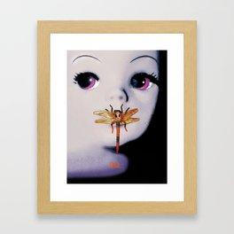 Silence of the lambs - film poster spoof Framed Art Print