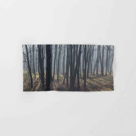 Fog Autumn forest Hand & Bath Towel