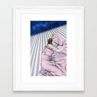 kieren walker Framed Art Prints featuring Amy & Kieren by Hannah Nannah
