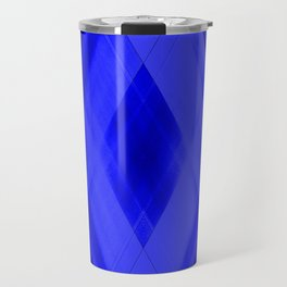 Hot triangular strokes of intersecting sharp lines with cornflower triangles and stripes. Travel Mug