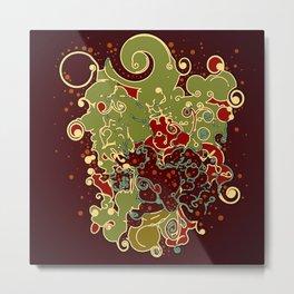 Abstract swirls digital poster/. Metal Print