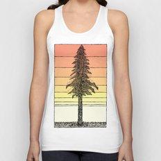 Coastal Redwood Sunset Sketch Unisex Tank Top