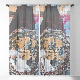 Basketball artwork swoosh vs 27 Sheer Curtain