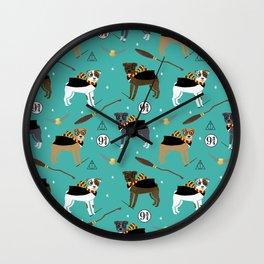 Pitbull witch wizard magic dog breed gifts Wall Clock