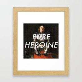 Heroine of Arc Framed Art Print
