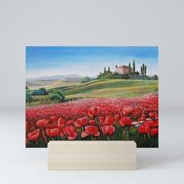Italian Poppy Field Mini Art Print