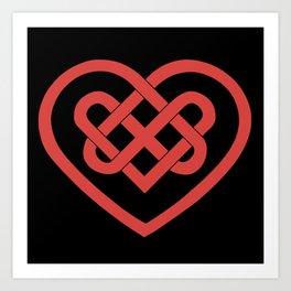 Celtic Heart (Dark) Art Print