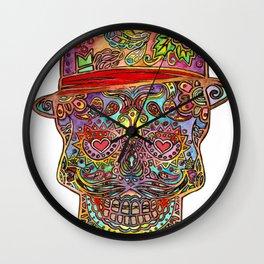 Dia De Los Muertos Sugar Skull Wall Clock