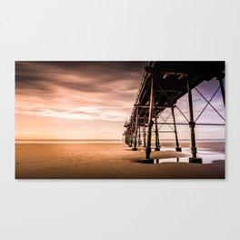 Puddle Striding Canvas Print