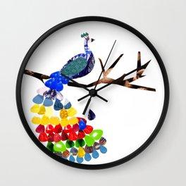 pavo real Wall Clock