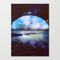 Mystic Lake Dark & Colorful Canvas Print