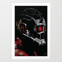 starlord Art Prints featuring Starlord by watsonedsherlock