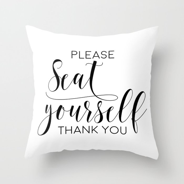 image relating to Bathroom Sign Printable titled You should Seat Your self, Rest room Indication, Printable Artwork, Toilet Wall Decor, Artwork, Amusing Lavatory Artwork Toss Pillow via artbynikola
