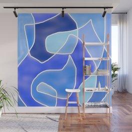Abstract Blues Wall Mural