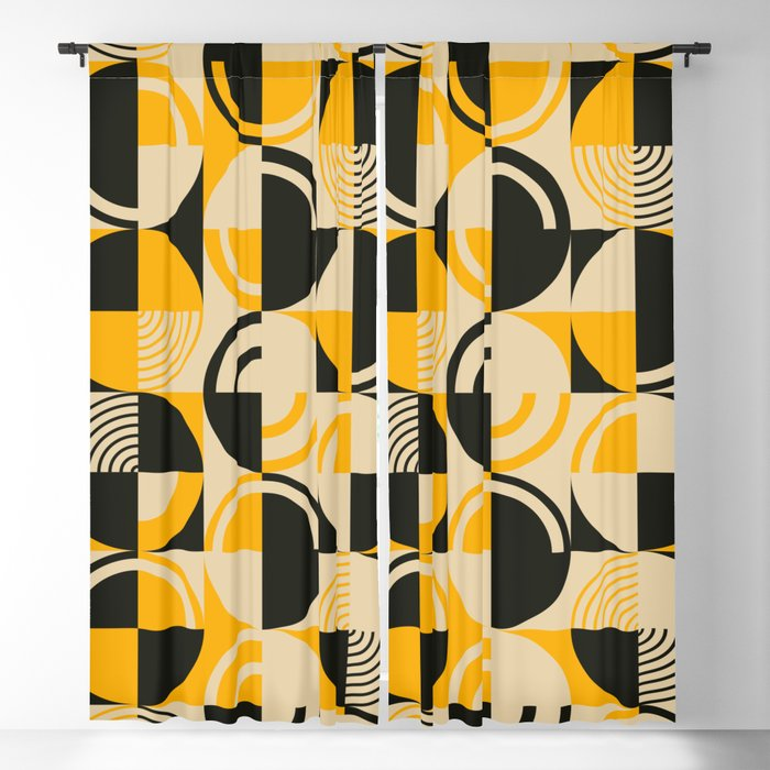 Squares and Circles - Modern Art Blackout Curtain