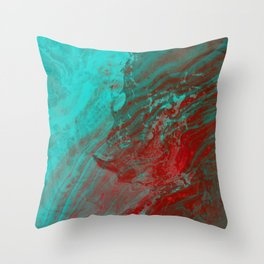 Dramatic Carmel Sunset - Ocean Color Throw Pillow
