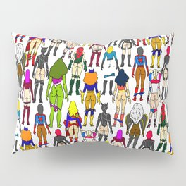 Superhero Butts - Girls Superheroine Butts LV Pillow Sham