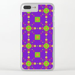Neon Bus Seat Seamless Pattern Clear iPhone Case