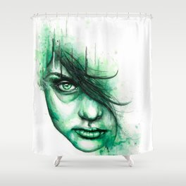 Not Listening Shower Curtain