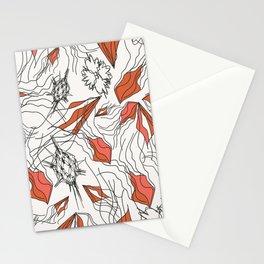 Black Strings Stationery Cards
