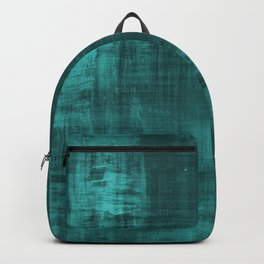 Teal Green Solid Abstract Backpack