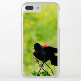 Stay away from here! Clear iPhone Case