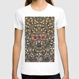 Tiger and flowers T-shirt