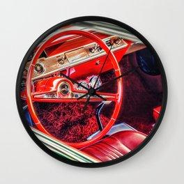 """Red Interior"" Wall Clock"