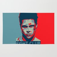 tyler spangler Area & Throw Rugs featuring Tyler Durden by Jason Vaughan