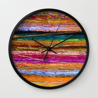 indian Wall Clocks featuring Indian Colors by Joke Vermeer
