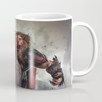 lion king Mugs featuring Lion King by Alexandrescu Paul