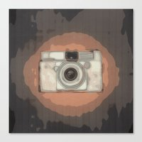 vintage camera Canvas Prints featuring Camera by Mr & Mrs Quirynen