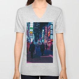 Take A Walk Under The Neon Unisex V-Neck