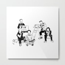 The neighbourhood: band Metal Print