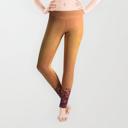 Red Violet Lone Tree and Fall Sunlight Leggings