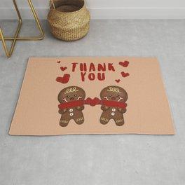 Gingerbread Love Thank You - Beige BG Rug
