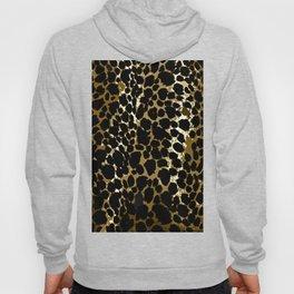 Animal Print Pattern Black and Brown Hoody