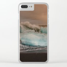 Sunset at the Glacier Lagoon Clear iPhone Case