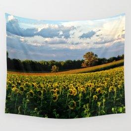 Summer sunflower field Wall Tapestry