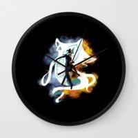 legend of korra Wall Clocks featuring THE LEGEND OF KORRA by Beka