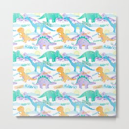 Rawr-some dinosaurs Metal Print