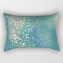 Blue glimmer Rectangular Pillow