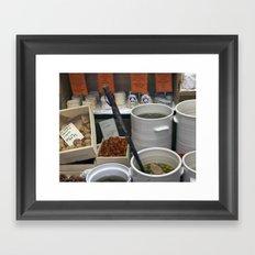 Walnuts and Olives Framed Art Print