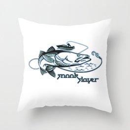 Snook Slayer Outdoors Fishing Design Throw Pillow