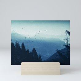 Blue Valmalenco - Misty Blue Mountains Mini Art Print