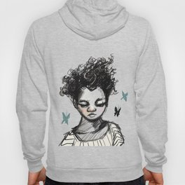 Girl with Butterfles Hoody