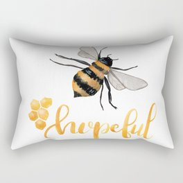Bee Hopeful Rectangular Pillow