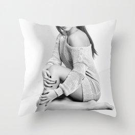 Fashion Illustration - Viviana Throw Pillow