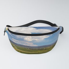Stormy day in the vineyards of Brda, Slovenia Fanny Pack